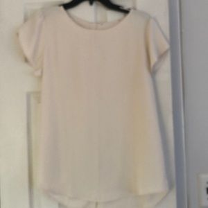 Loft Cream Soft Blouse M
